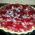 Tarte aux fruits rouges...