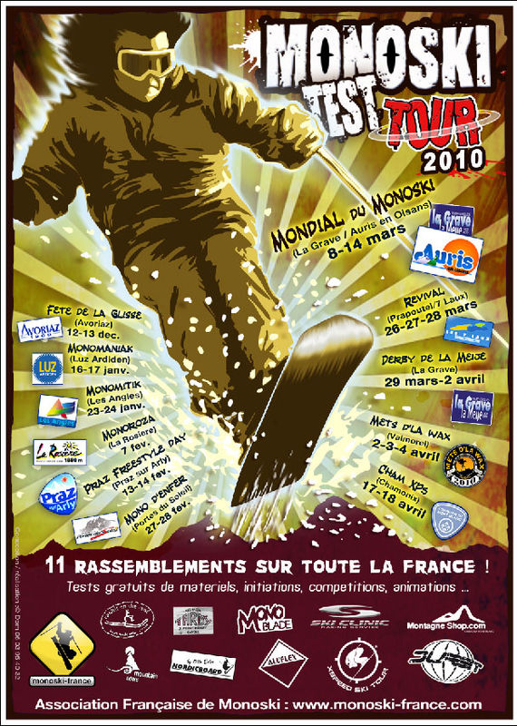 Affiche Monoski Test Tour 2010