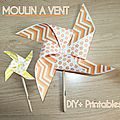 Diy+printables moulin à vent