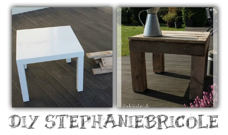 Diy deco recup une petite table en palette st phanie bricole for Decoration palette en bois