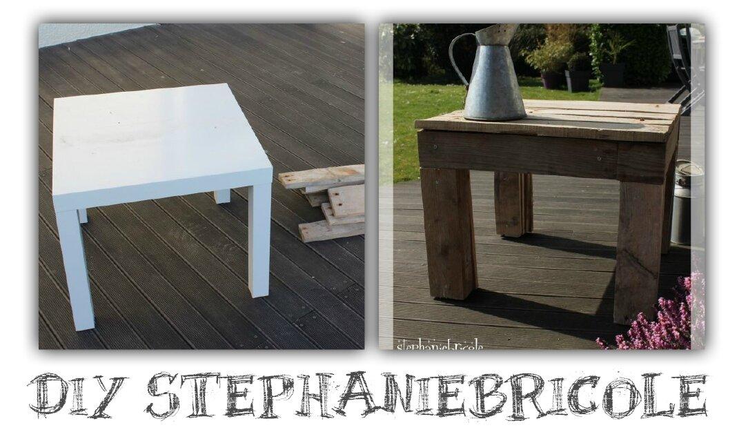 Diy deco recup une petite table en palette st phanie bricole - Deco avec palettes bois ...