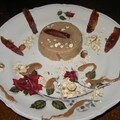 Entremets velouté au lait d'avoine, dattes medjool d'après la recette de laurence salomon