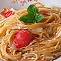 Spaghettis quinoa à la tomate aux saveurs d'italie...
