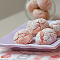 Amaretti aux biscuits roses