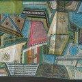 Jaisalmer, artisanat locas, tapis avec miroirs incrustes