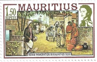 timbre - Indian Immigration of Mauritius