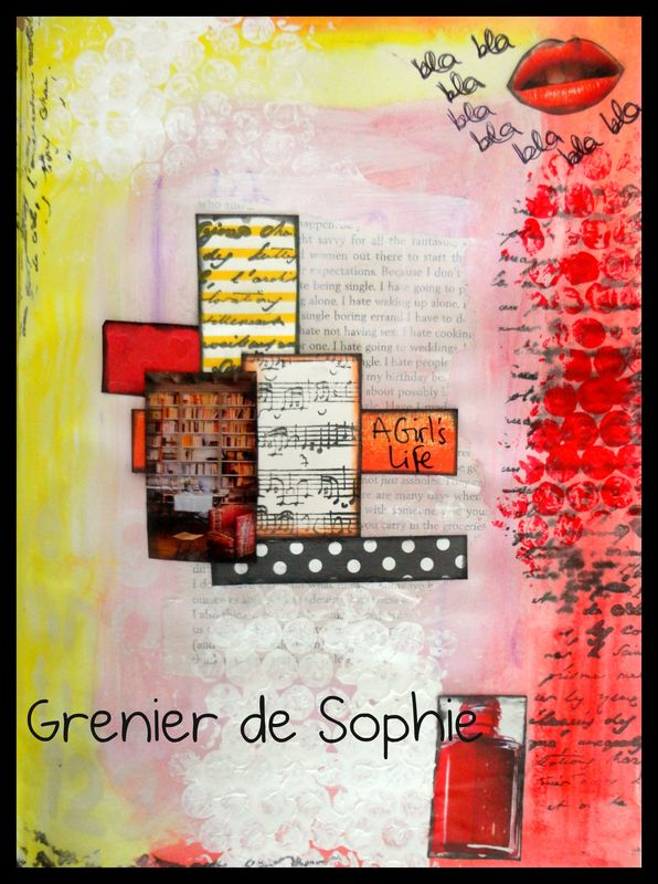 art journal 2 le grenier de sophie peinture d coration pour enfants. Black Bedroom Furniture Sets. Home Design Ideas
