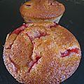 Muffins fraises fleur d'oranger