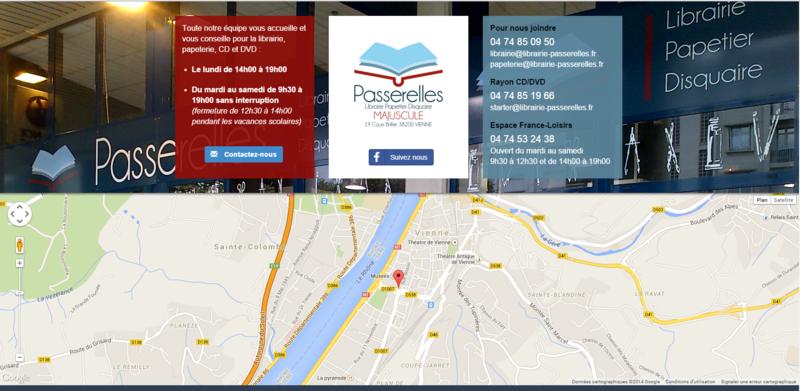 LIBRAIRIE PASSERELLES - LIBRAIRE PAPETIER DISQUAIRE - MAJUSCULE - VIENNE (ISERE)