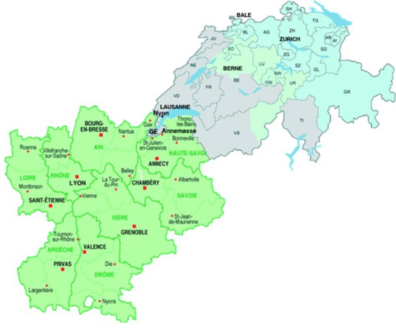 Relations Régionales Internationales : Rhône-Alpes/Suisse