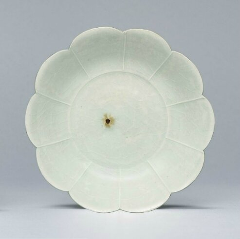 A Qingbai flower-form dish, Northern Song dynasty (960-1127)