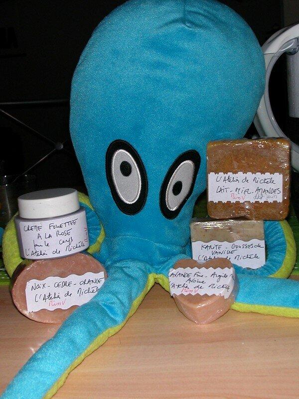 Kraken est überfan des savons de Michèle et de sa crème fouettée divine !