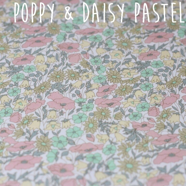 poppy and daisy pastel