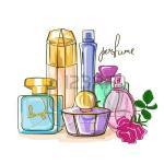 28901027-illustration-tir-e-par-la-main-de-flacons-de-parfum