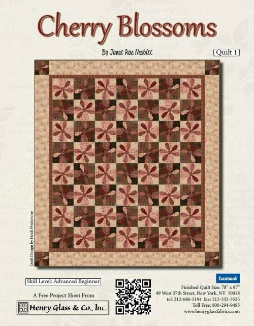 Cherry Blossoms_Quilt 1_Pattern_04292016