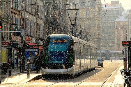 Neige sur Strasbourg