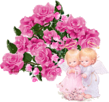 anges avec roses