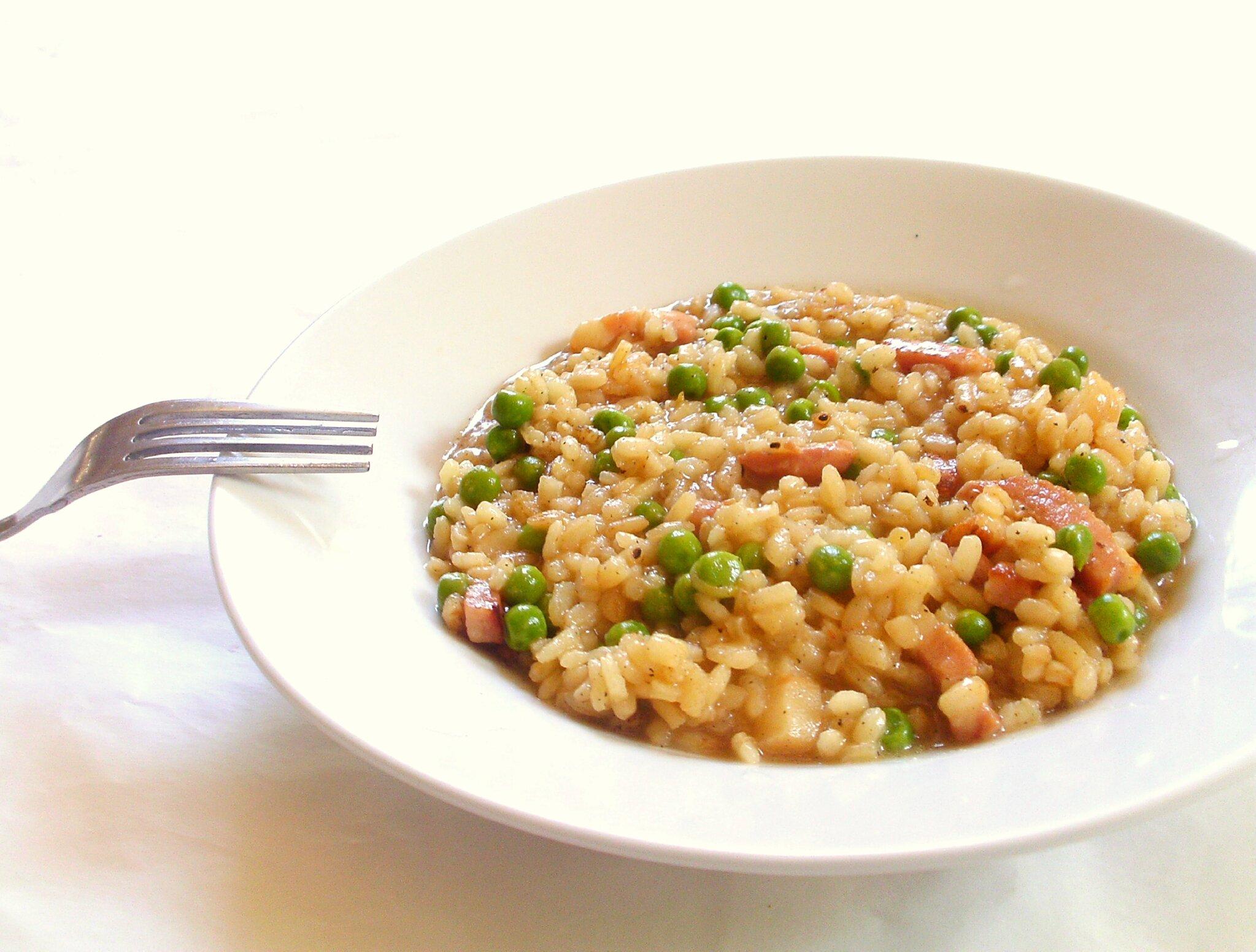 recette de risotto aux petits pois au lardons et au citron 120 street cook. Black Bedroom Furniture Sets. Home Design Ideas