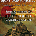 Jeu d'enquête grandeur nature « les mystères du mont-saint-michel » samedi 20 septembre 2017