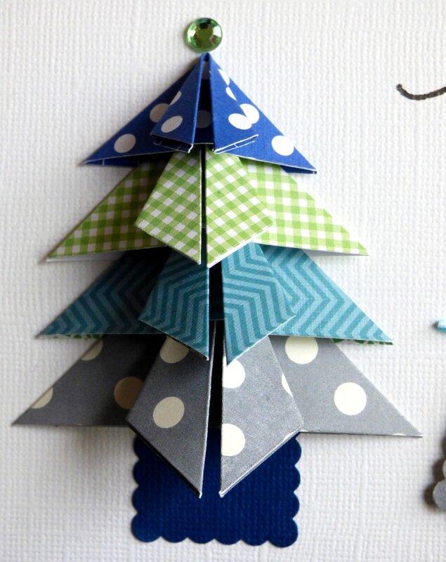 carte de no l avec sapin en origami et cadeau l2mg la boutique. Black Bedroom Furniture Sets. Home Design Ideas