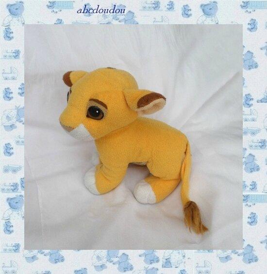 Doudou Peluche Roi Lion Simba Authentic Lon King Mattel 1993
