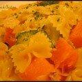 Pates aux courgettes et potiron