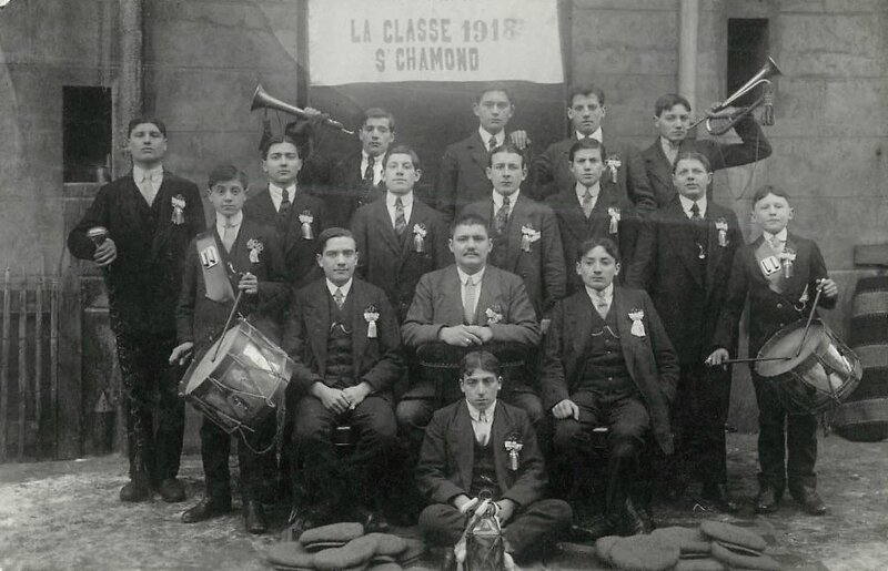 classe 1918 Saint-Chamond photo de groupe - 1