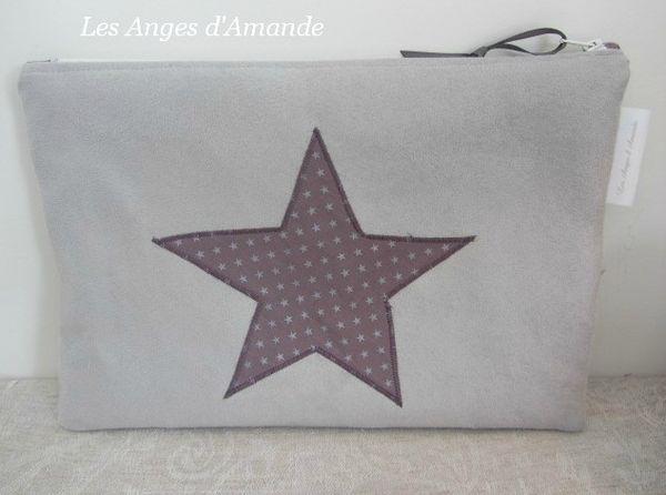 pochette tablette gris rose