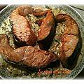 Saumon et sa fondu de poireau