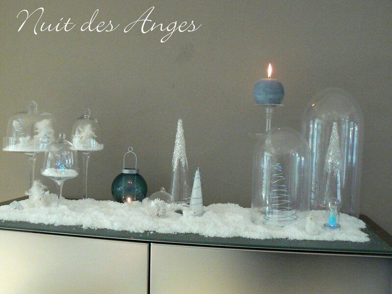 Nuit des anges décoration de table bleue 019