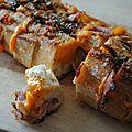 Baguette hérisson bacon et mimolette