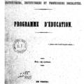 Association fraternelle des instituteurs, institutrices et professeurs socialistes, 1849