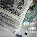 Marimerveille détail coussinatelier du père Noël (bleu)