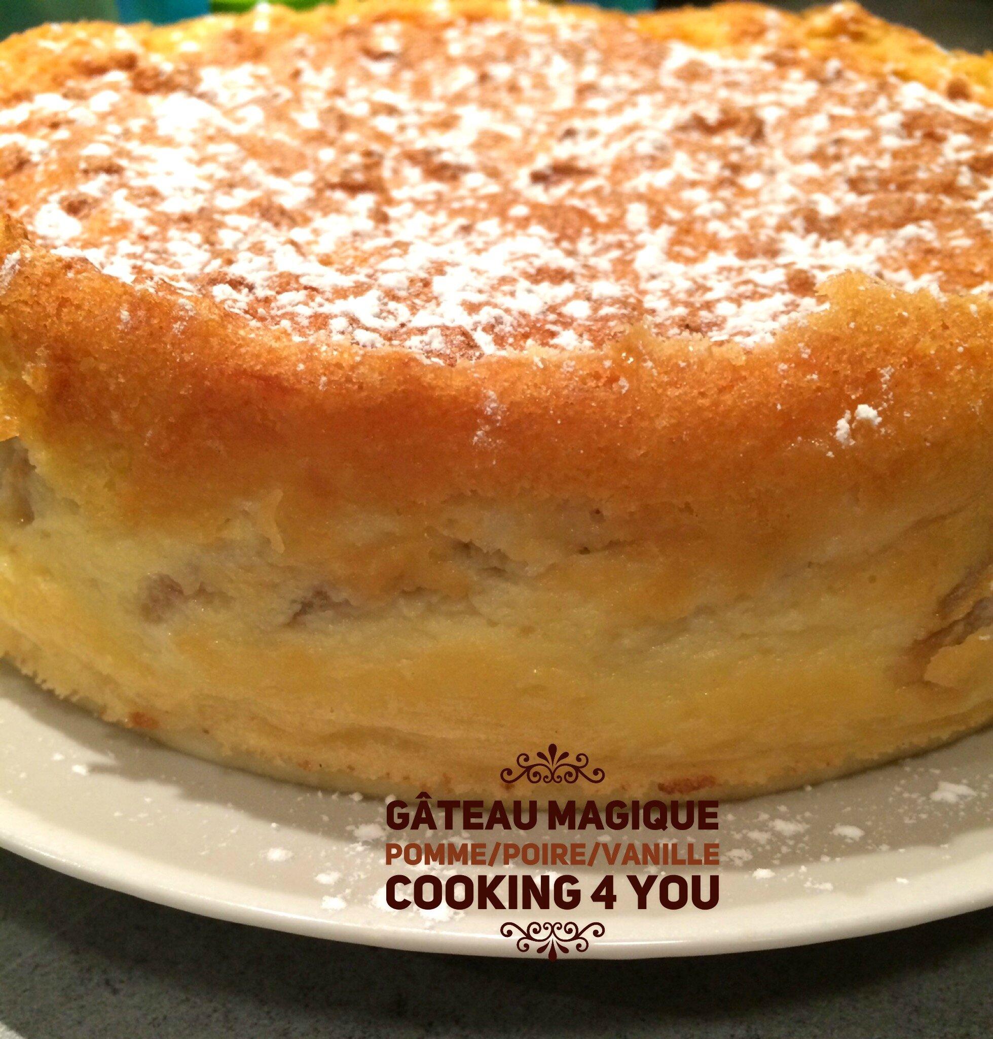 Gâteau magique Pomme/Poire/Vanille