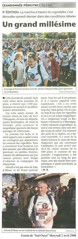 Sud Ouest - 02 avril 08