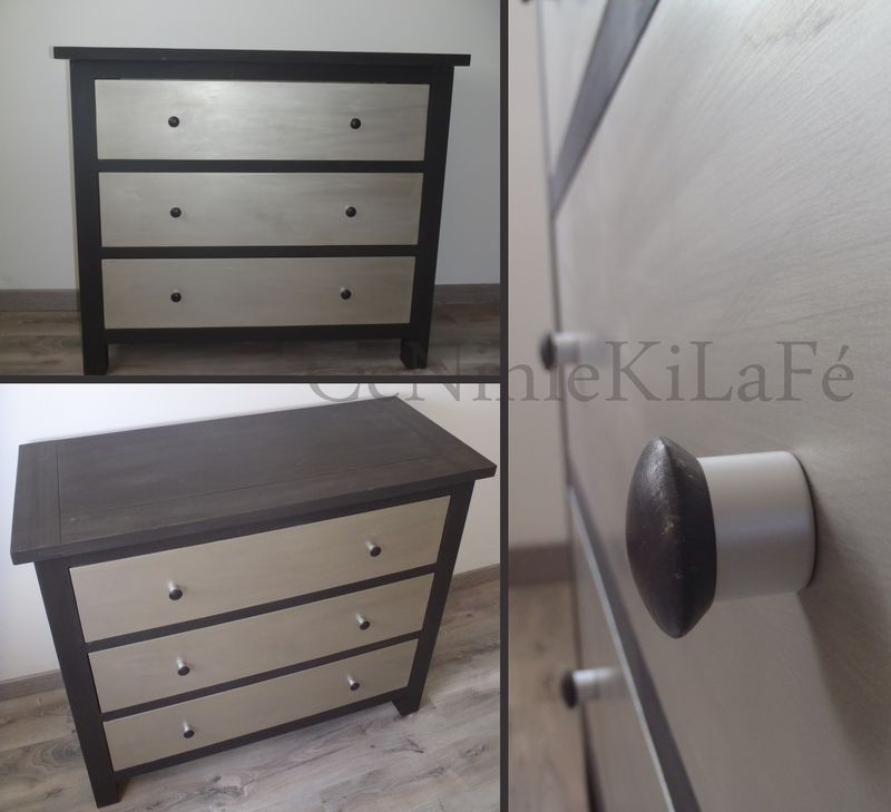 relookage commode weng argent c niniekilaf. Black Bedroom Furniture Sets. Home Design Ideas