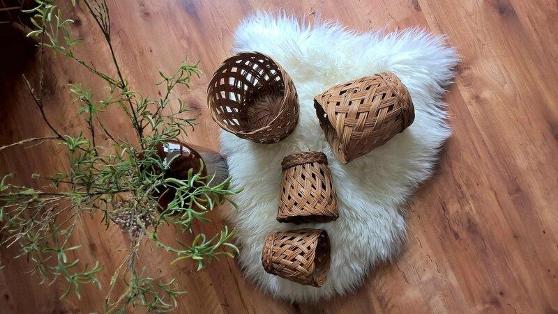 4 cache-pots osier