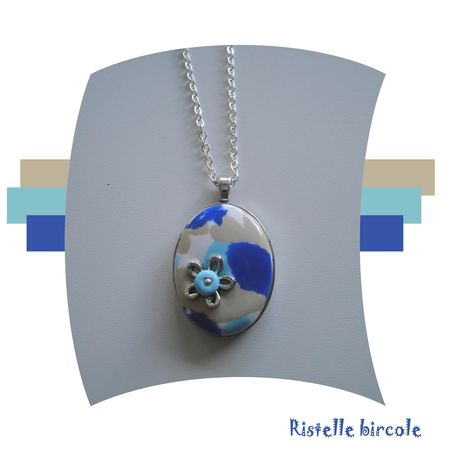 pendentif bleu sahara aqua