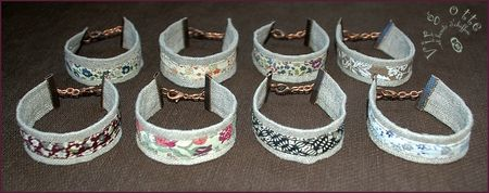 lot bracelets lin ronds