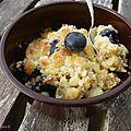 Porridge crumble aux myrtilles