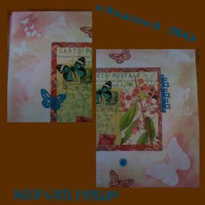 scrap carte papillon détail