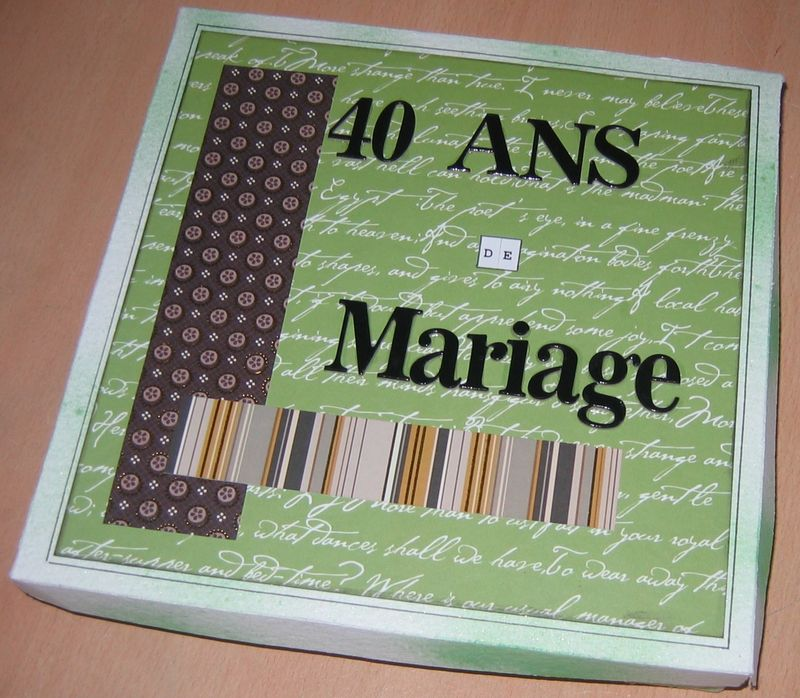album pop up 40 ans de mariage scrapatitia. Black Bedroom Furniture Sets. Home Design Ideas