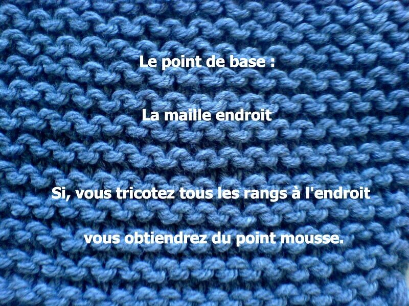 Point de base : la maille endroit