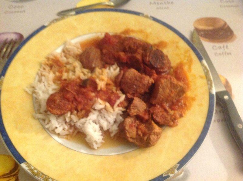 Sauté de veau ou de porc au chorizo et aux olives