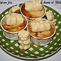 Muffin petit ourson au chocolat blanc
