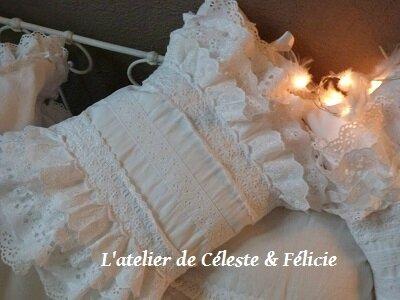 Coussin romantique l 39 atelier de c leste et f licie - Housse de coussin romantique ...