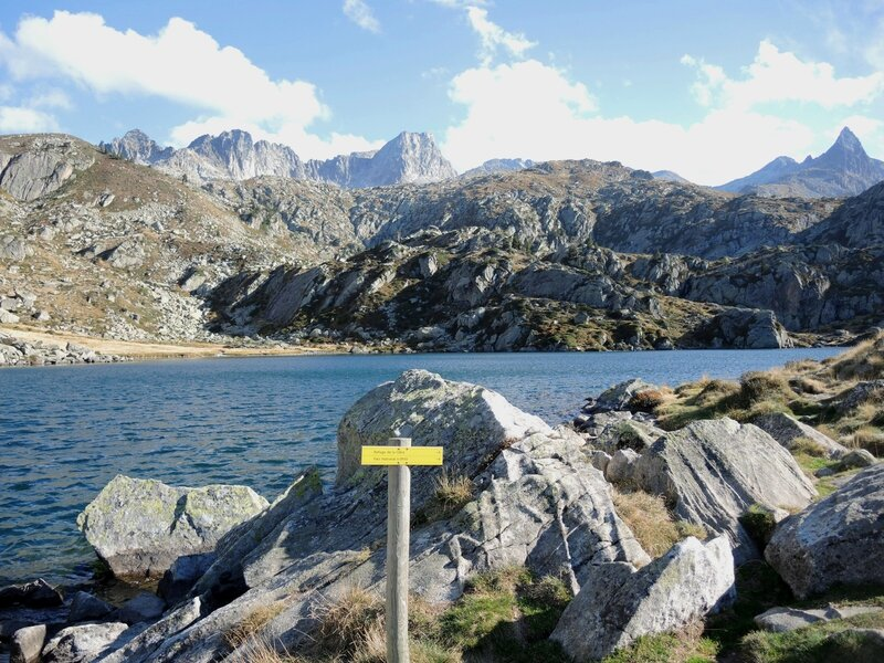 Lac de la Glère, arrivée, panneau (65)