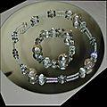 parure collier bracelet perle en argent cristal boheme