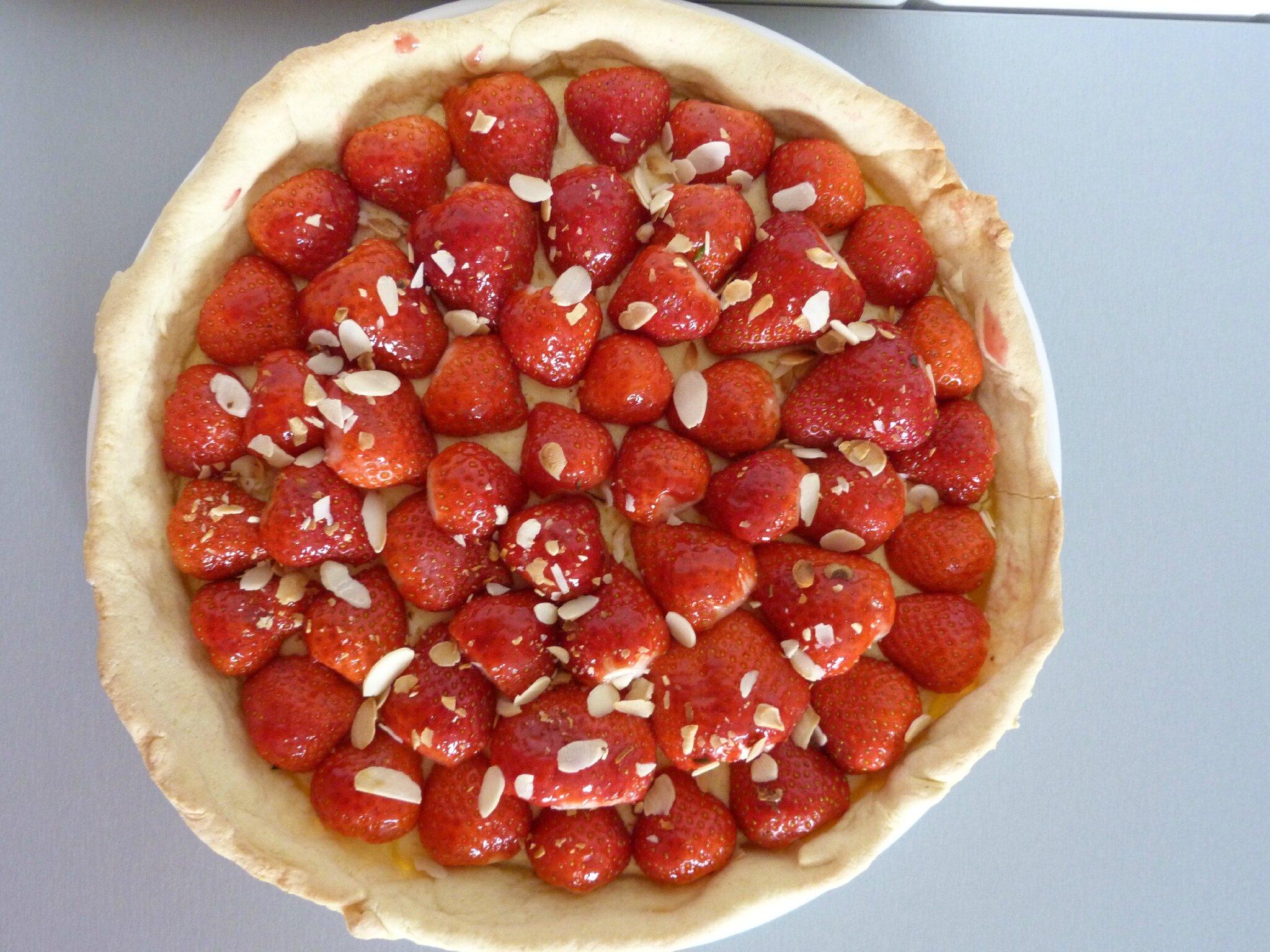 tarte aux fraises light