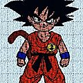 Broderie machine : dragon ball